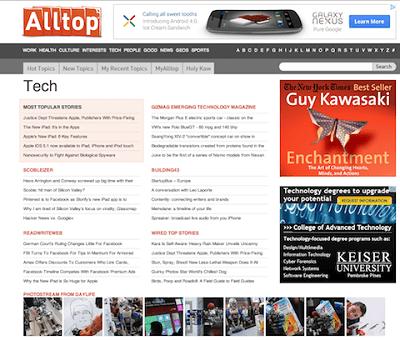 Гай использует Alltop, чтобы находить контент, которым можно поделиться в Google+
