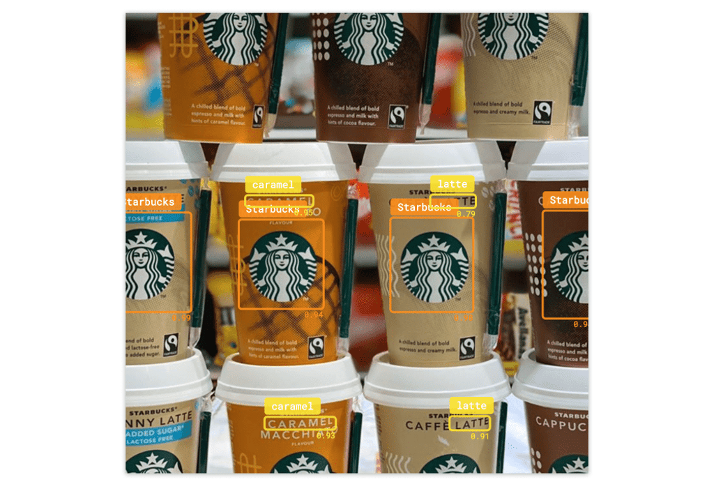 Recognizing the flavor of the drink using image text recognition