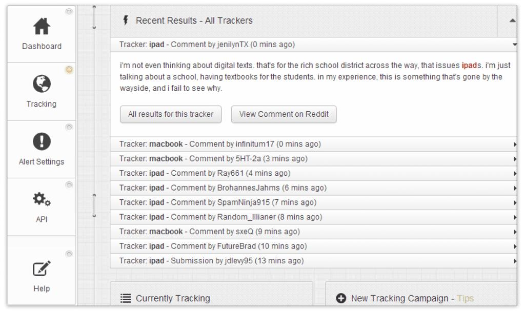 Reddit Keyword Monitor Interface