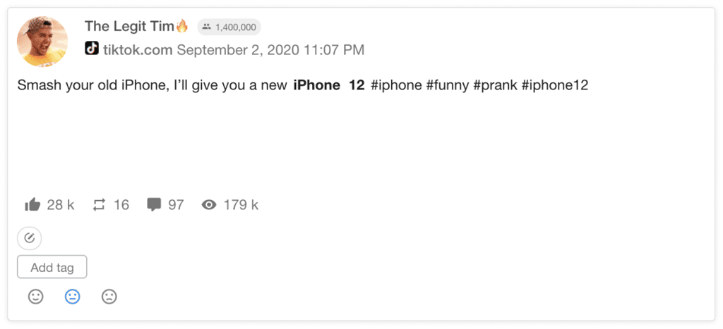 A prank about throwing away an old iPhone
