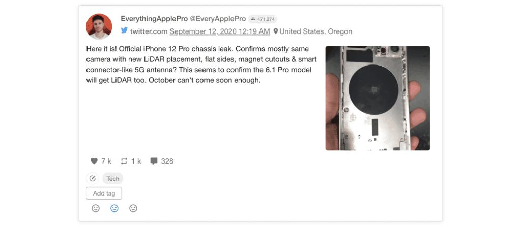 Potential iPhone 12 prototype