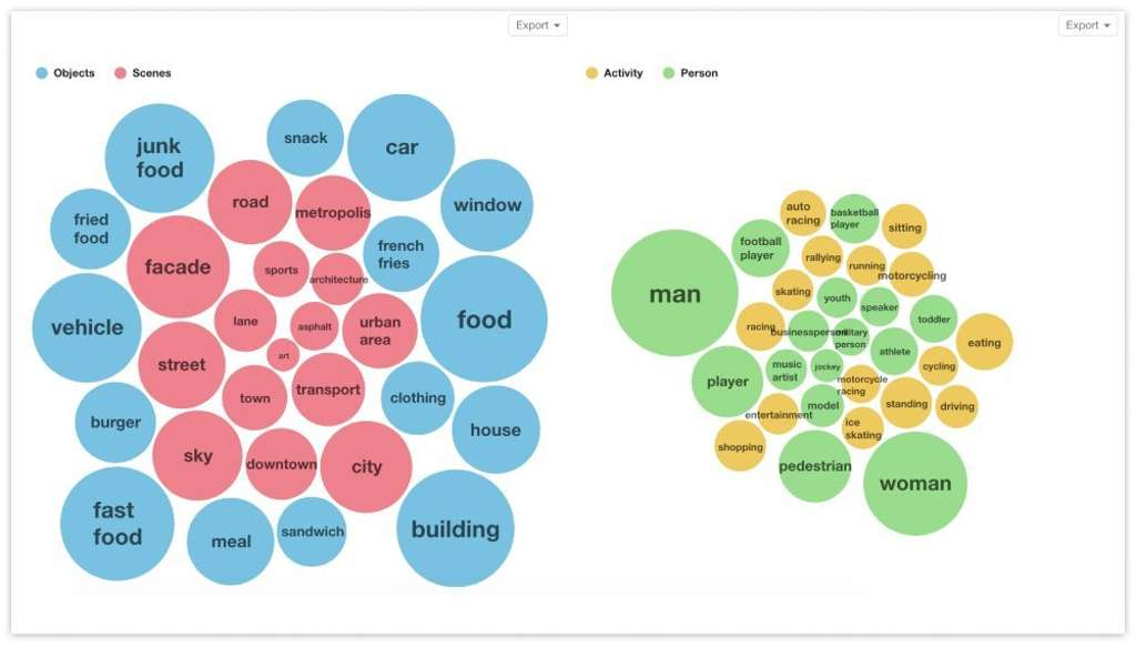 Visual Insights: objects, scenes, activity, person