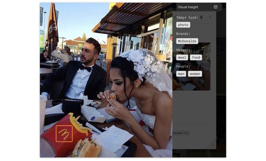 McDonald's is always a solution for hungry people even at a wedding…