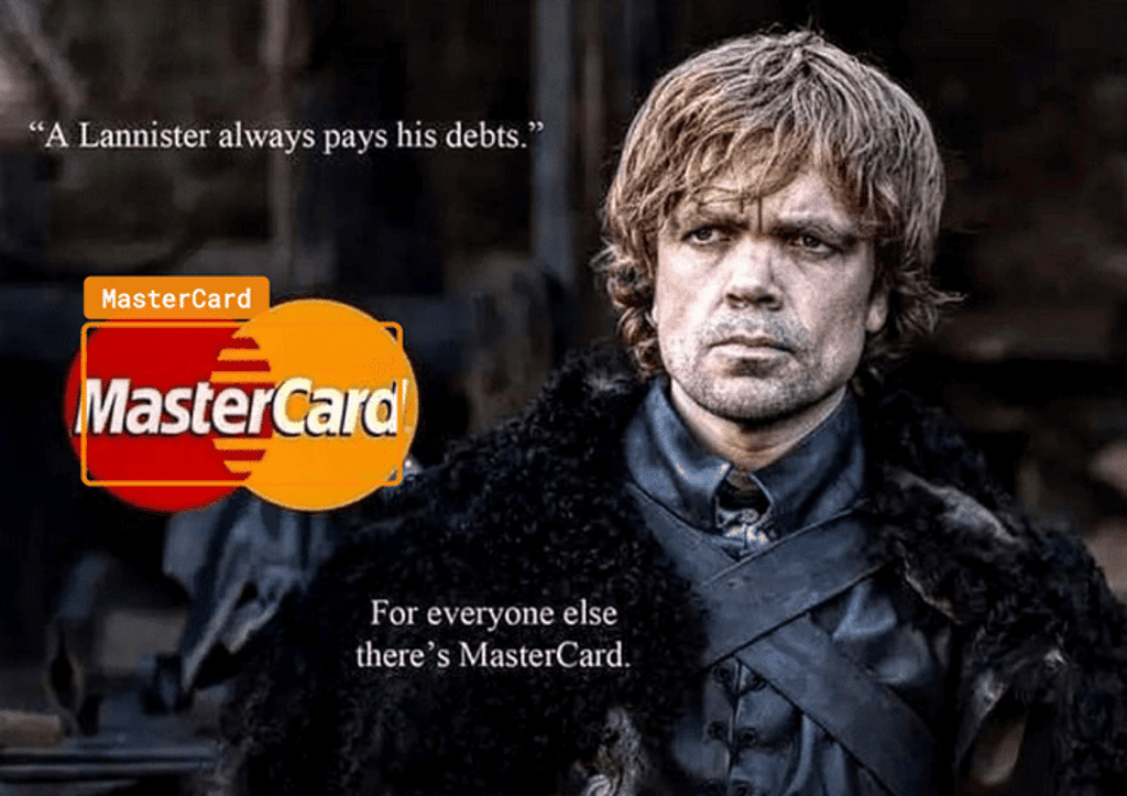 MasterCard and Game of Thrones