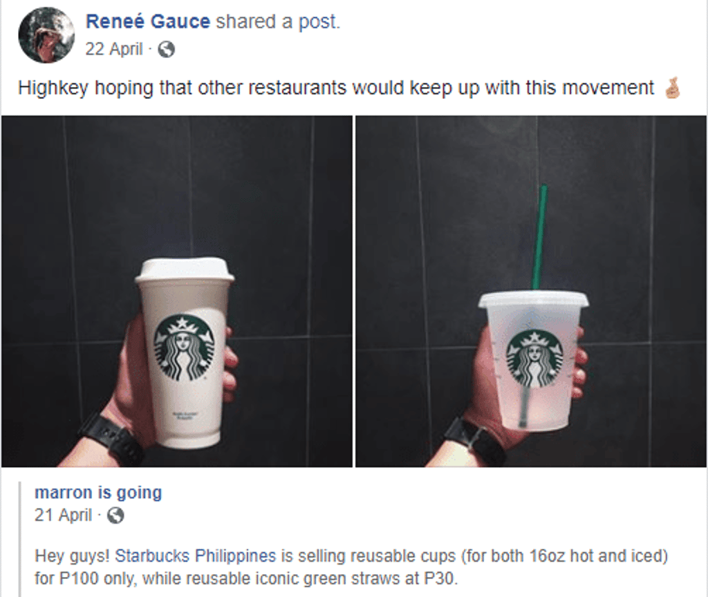 Strarbucks Reusable Cups - Discussions