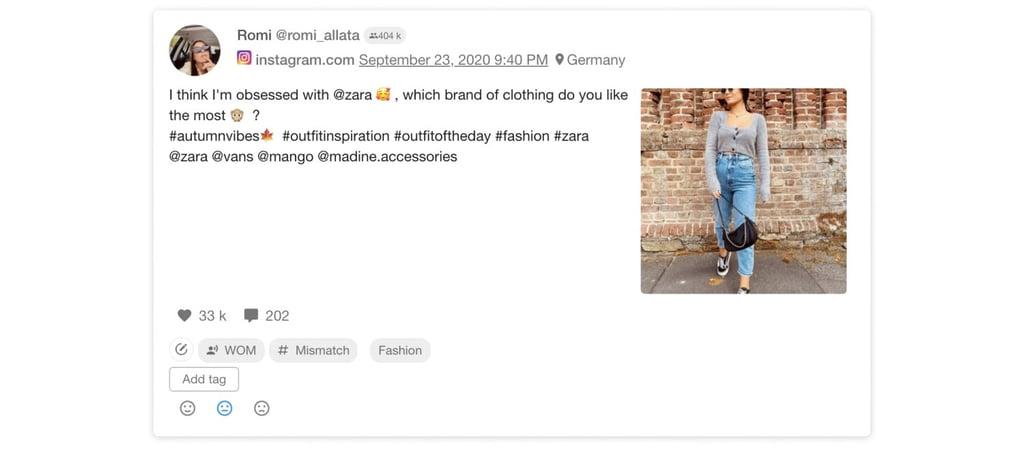 Influencer wearing Zara