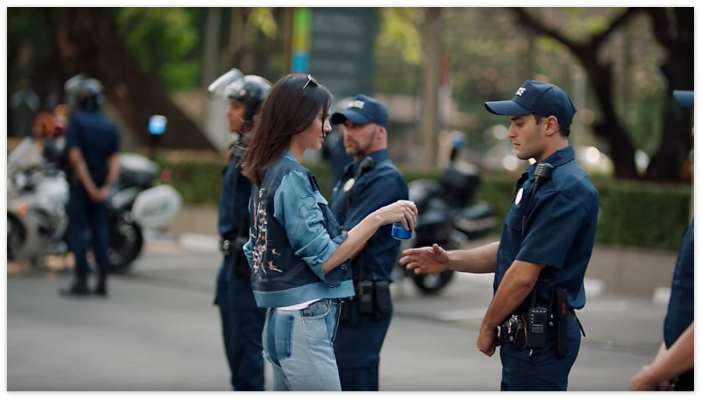 An image from a Pepsi ad posted on YouTube