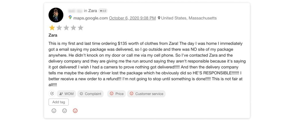A post about Zara