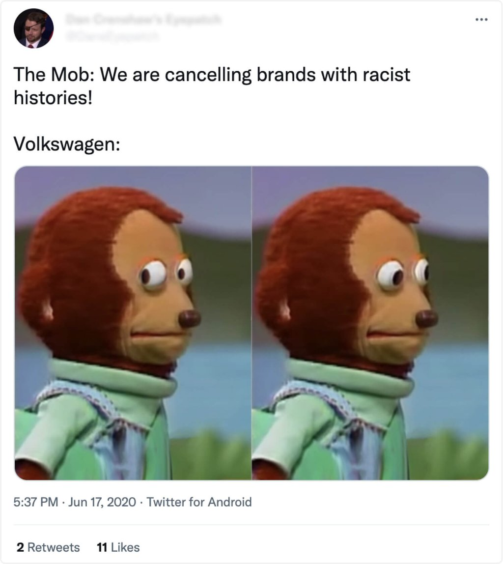 reaction to vw racist commercial