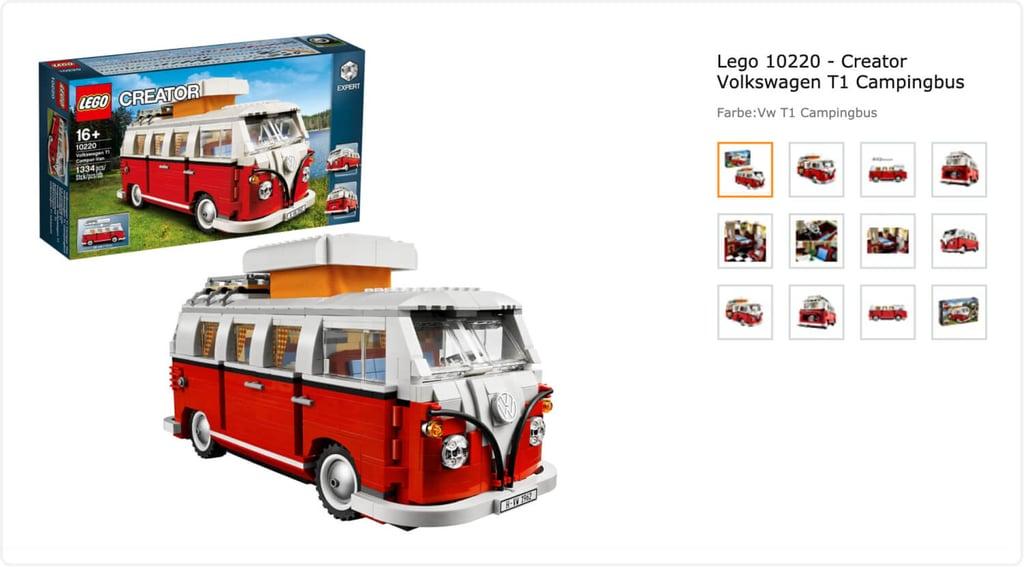 Пример продукции Lego